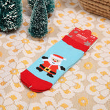 1 Pair Cotton Socks For Baby Girls & Boys Boy Snowflake Elk Santa Claus Christmas Bear - Saving World Store