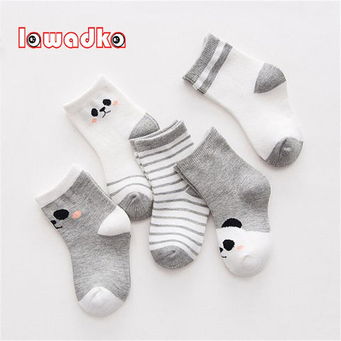 5Pairs/lot Cotton Striped Baby Socks Newborn Baby Boys Girls Sock Cute Toddler Kid Socks - Saving World Store