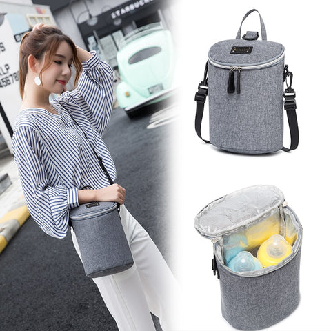 New Mini Maternity Backpack Women Baby Bottle Bag Aluminum Foil Food Milk Breast Nursing Thermos Insulation - Saving World Store