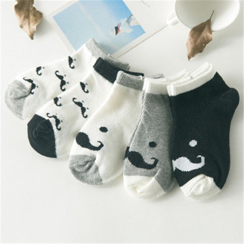 5 Pair Baby Socks Cotton Kids Girls Boys Children Socks For 1-10 Year autumn winter - Saving World Store