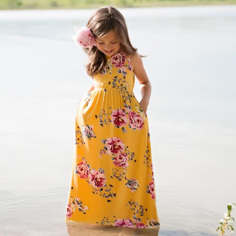 Summer baby girl clothes dress 2018 Princess Toddler Baby Girls Floral Dress Kid Party - Saving World Store