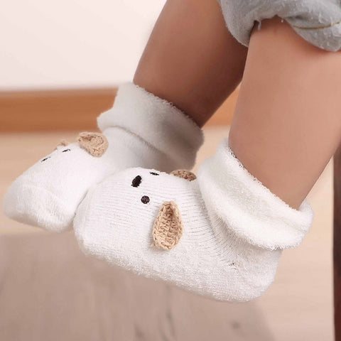 Baby Socks Newborn Infant Cartoon Cute Soft Thicken Terry Socks Toddler Boys Girls - Saving World Store