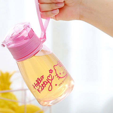 350ml Eco-friendly Kids Water Drinking Cartoon Bottles BPA Free Plastic Straw Bottle Children Kettle Training Cup - Saving World Store