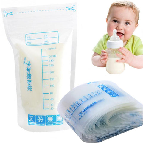 30 pcs Baby Food Storage Breast Milk Storage Bags To Store Milk Bag 250ml PBA free safe de leite almacenaje leche - Saving World Store