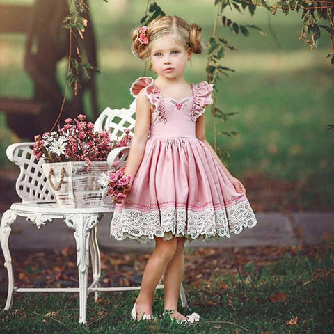 Princess Clothes Strap Sundress Party Dresses Baby Kids Clothes Summer Girl Fashion - Saving World Store