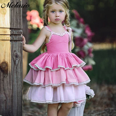 Baby Girl Dresses European and American Style Girls Sleeveless Layered Dress for Kids - Saving World Store