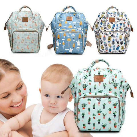 mummy bag new printing mother child bags travel use package newborn stroller - Saving World Store