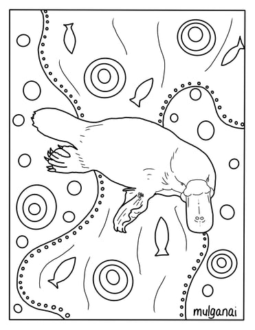 Platypus free colouring in