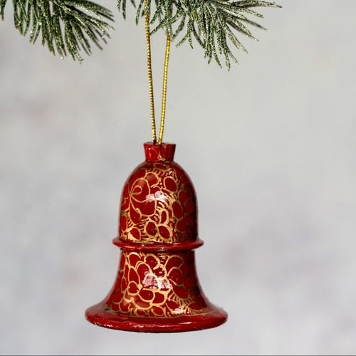 Red Pebble Hanging Bell