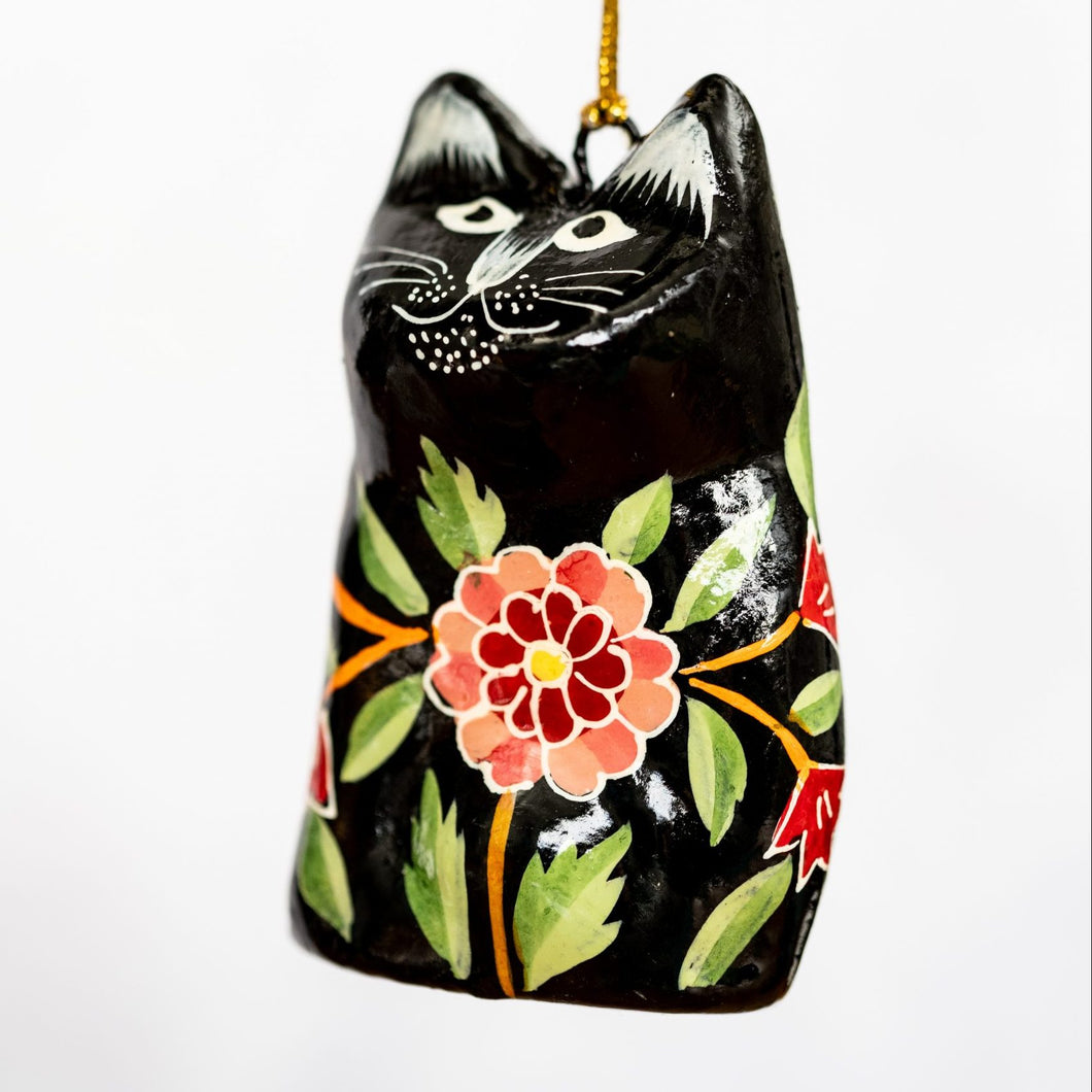 Indian 18  Floral Hanging Cat