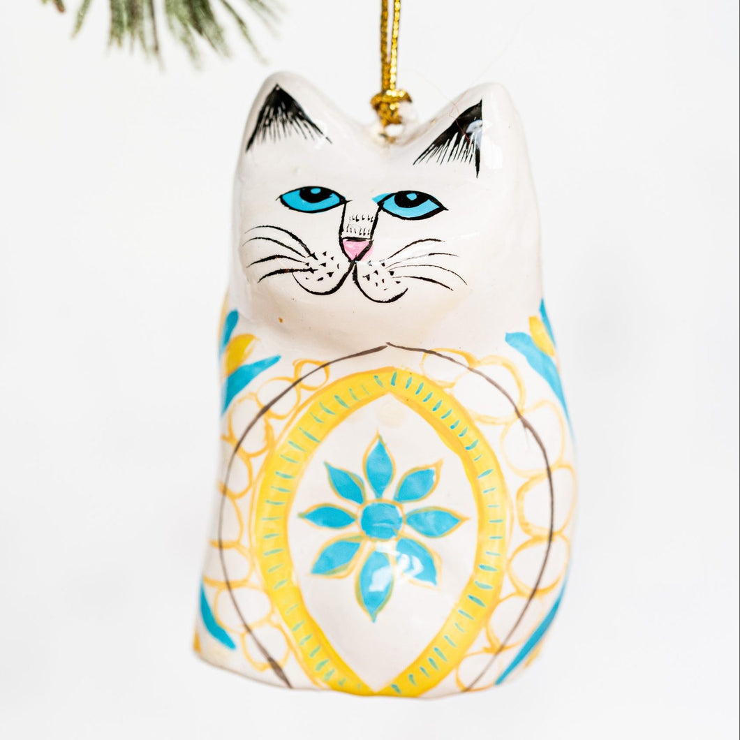 Indian Blue Flower Hanging Cat