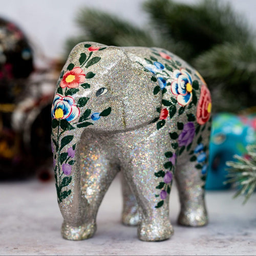 Indian Silver Glitter Giant Elephant