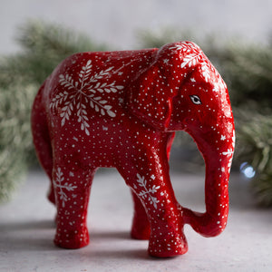 Red Snowflake Giant Elephant