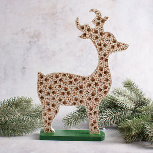 Gold Leaf Wooden Giant Reindeer