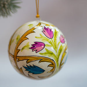 "3"" Indian Floral 20 Christmas Bauble"