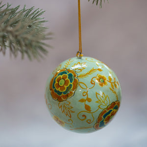 "3"" Indian Floral 22 Christmas Bauble"