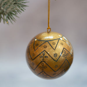 "3"" Matt Gold Medieval Christmas Bauble"