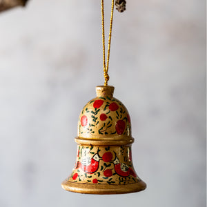Red & Gold Bird Hanging Bell