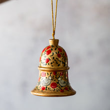 Load image into Gallery viewer, Red & Gold Bird Hanging Bell