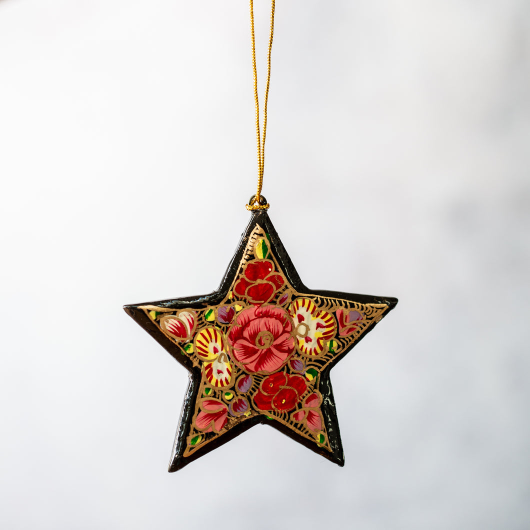 Russian Floral Hanging Star