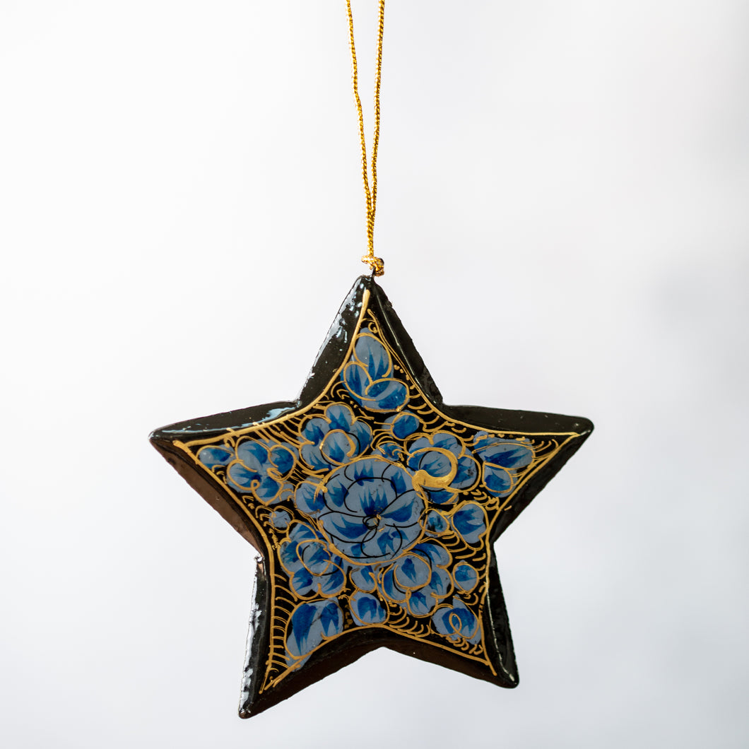 Indian Floral 8 Hanging Star