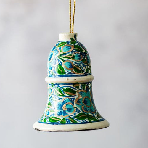 Turquoise & Green Floral Hanging Bell