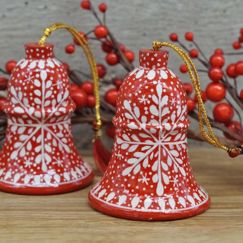 Red Snowflake Hanging Bell