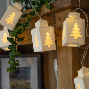 Christmas Tree Lantern Paper String Lights
