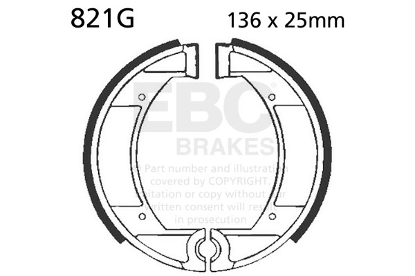 EBC Brake Shoes Maico Front #821G