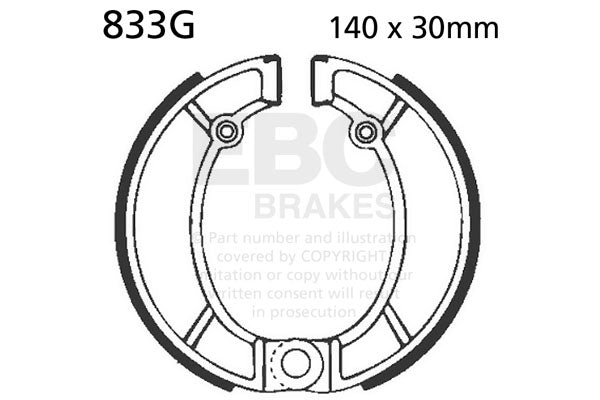 EBC Brake Shoes Bultaco  #833G