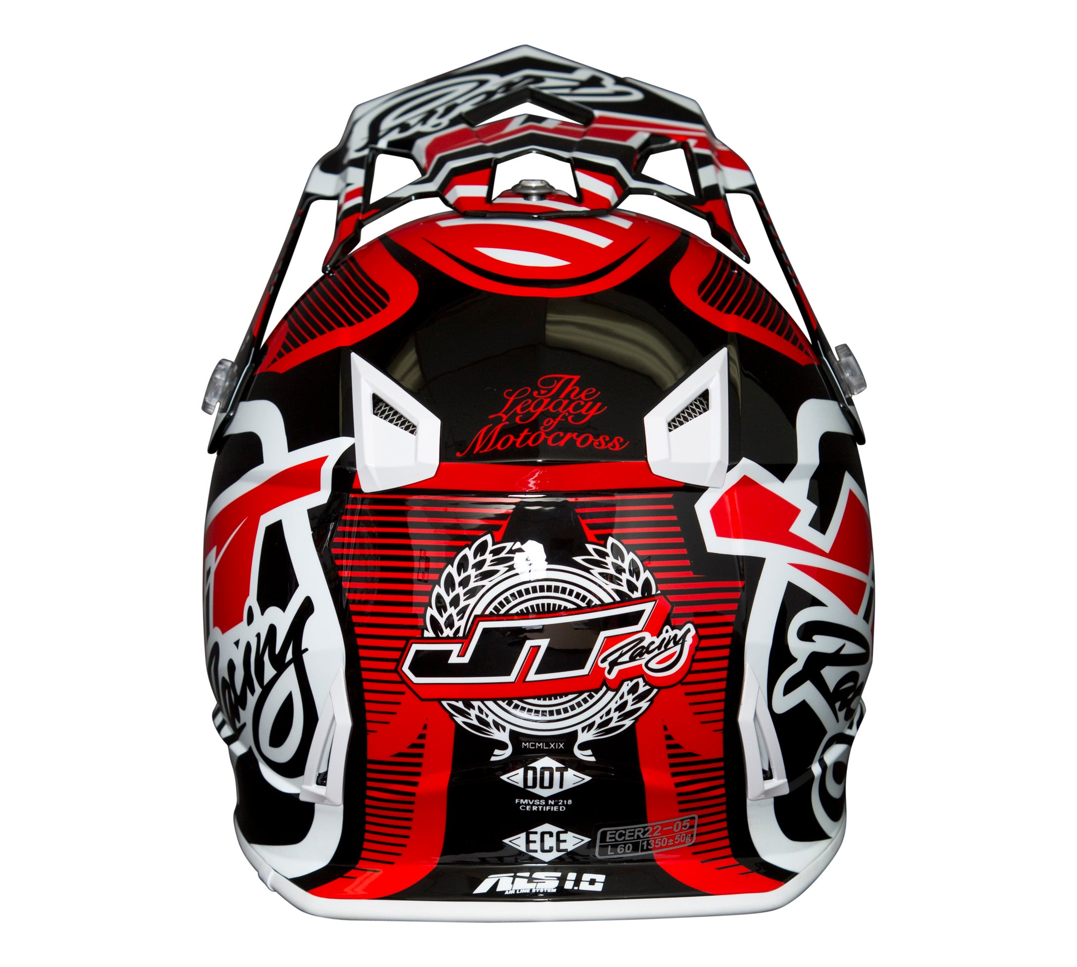 JT RACING USA  ALS1.0 Helmet, Red/Black