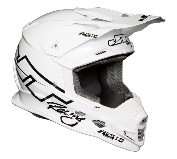 JT RACING USA-2017 ALS 1.0 Helmet, White