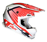 JT RACING USA-ALS 2.0 Helmet, Red/White/Black