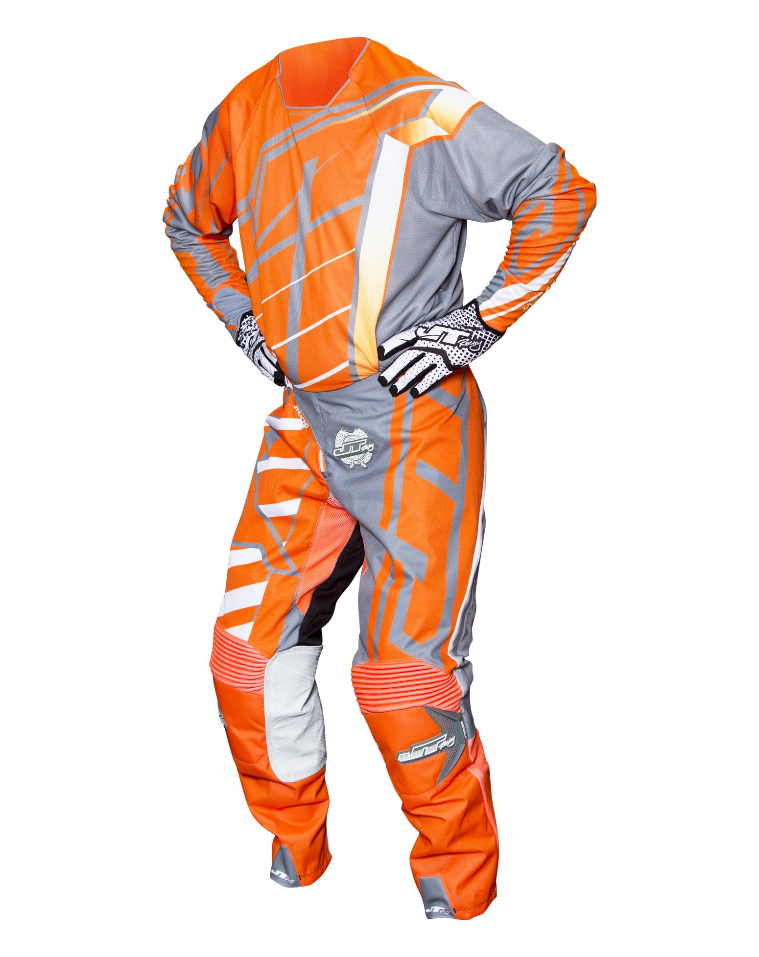 JT RACING USA-2017 Hyperlite Breaker Pants, Fluro Orange/Grey
