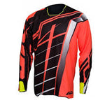 JT Racing USA-2017 Hyperlite Breaker Jersey, Black/Fluro Red/Yellow