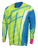 JT Racing USA-2017 Hyperlite Breaker Jersey, Fluro Green/Cyan/Pink