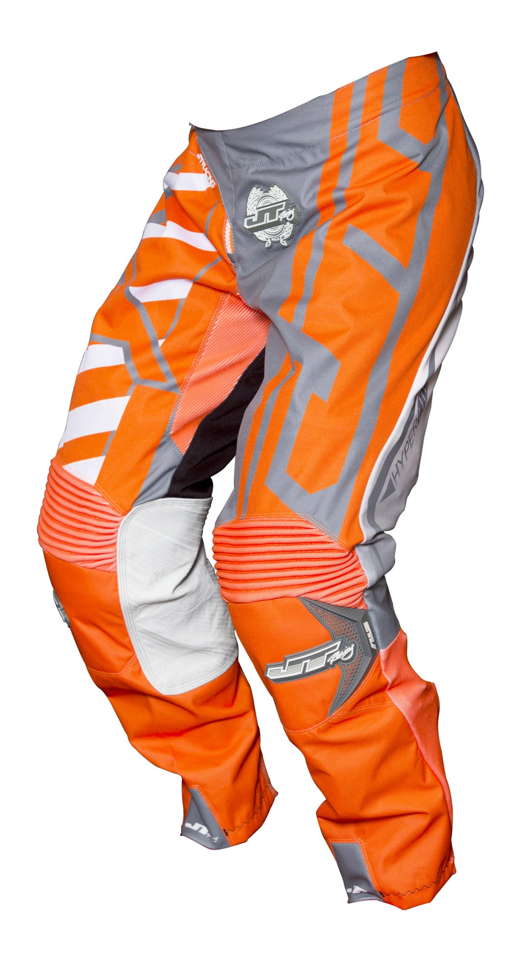 JT RACING USA Hyperlite Breaker Pants, Fluro Orange/Grey