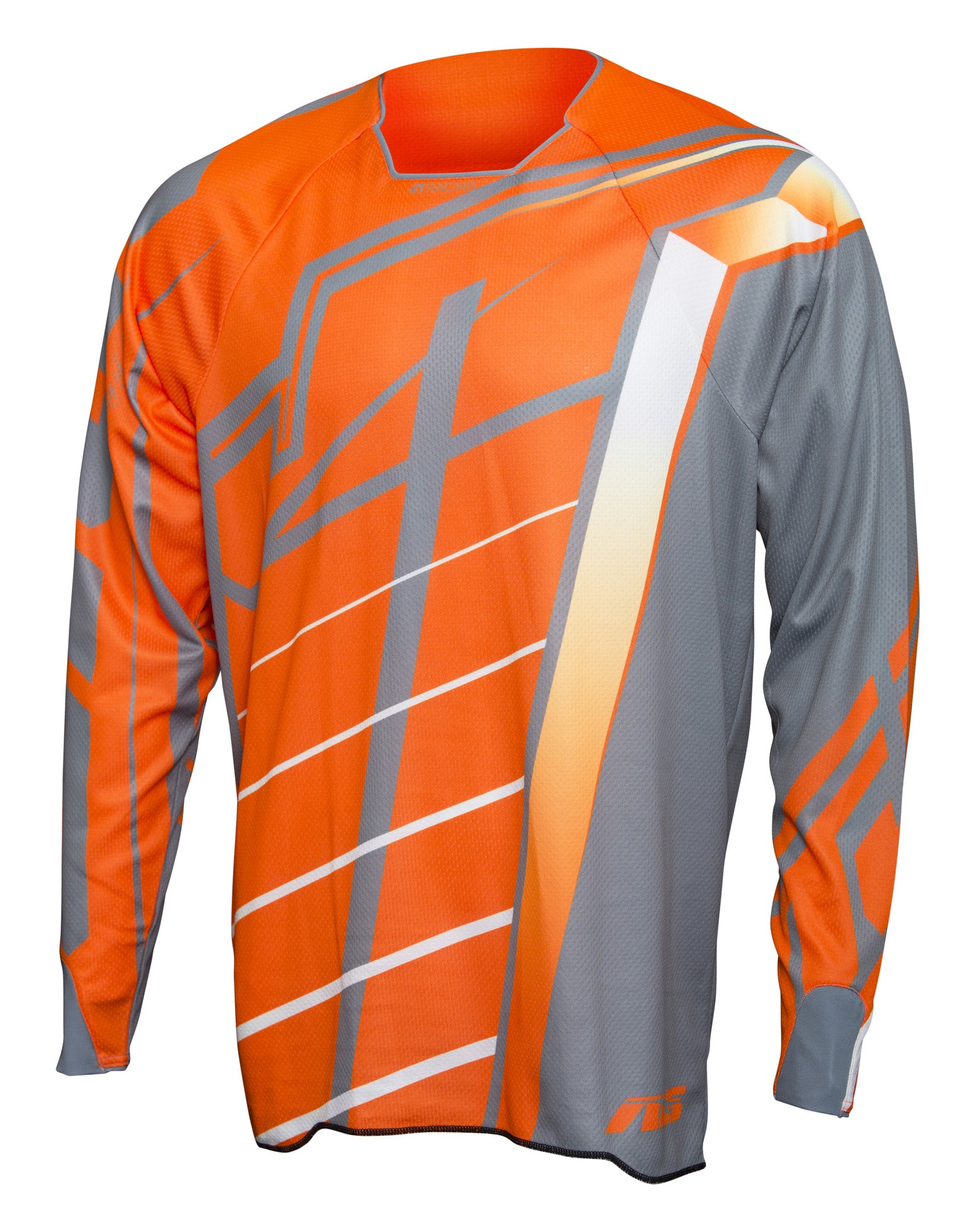 JT Racing USA-2017 Hyperlite Breaker Jersey, Fluro Orange/Grey