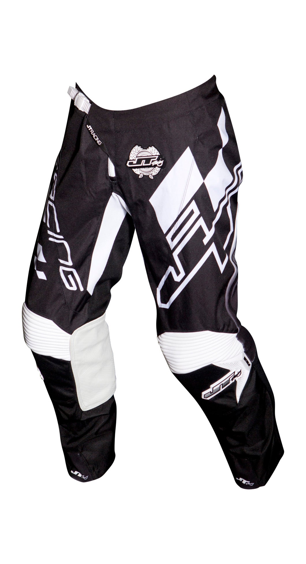 JT RACING USA Hyperlite Checker Pants, Black/White