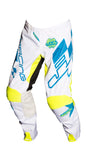JT RACING USA Hyperlite Checker Pants, Cyan/White/Neon Yellow