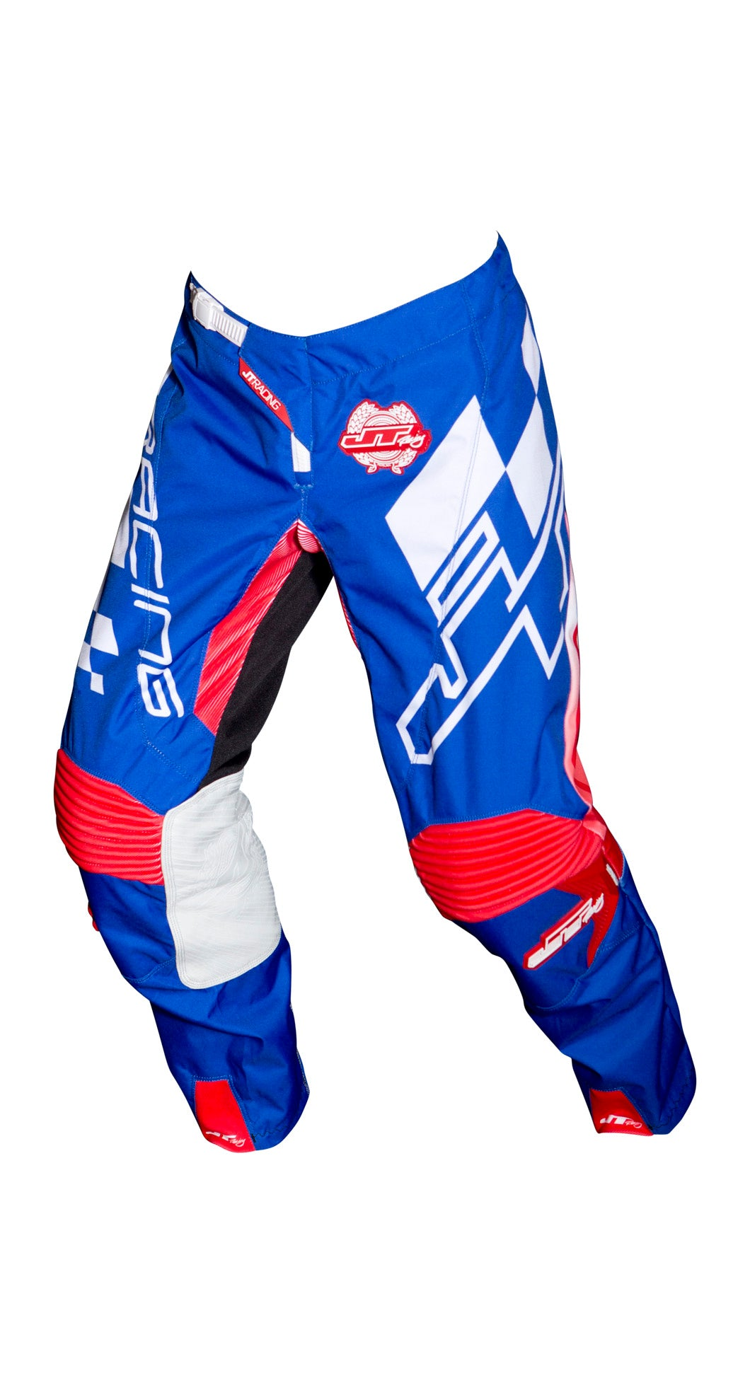 JT RACING USA Hyperlite Checker Pants, Red/Blue/White