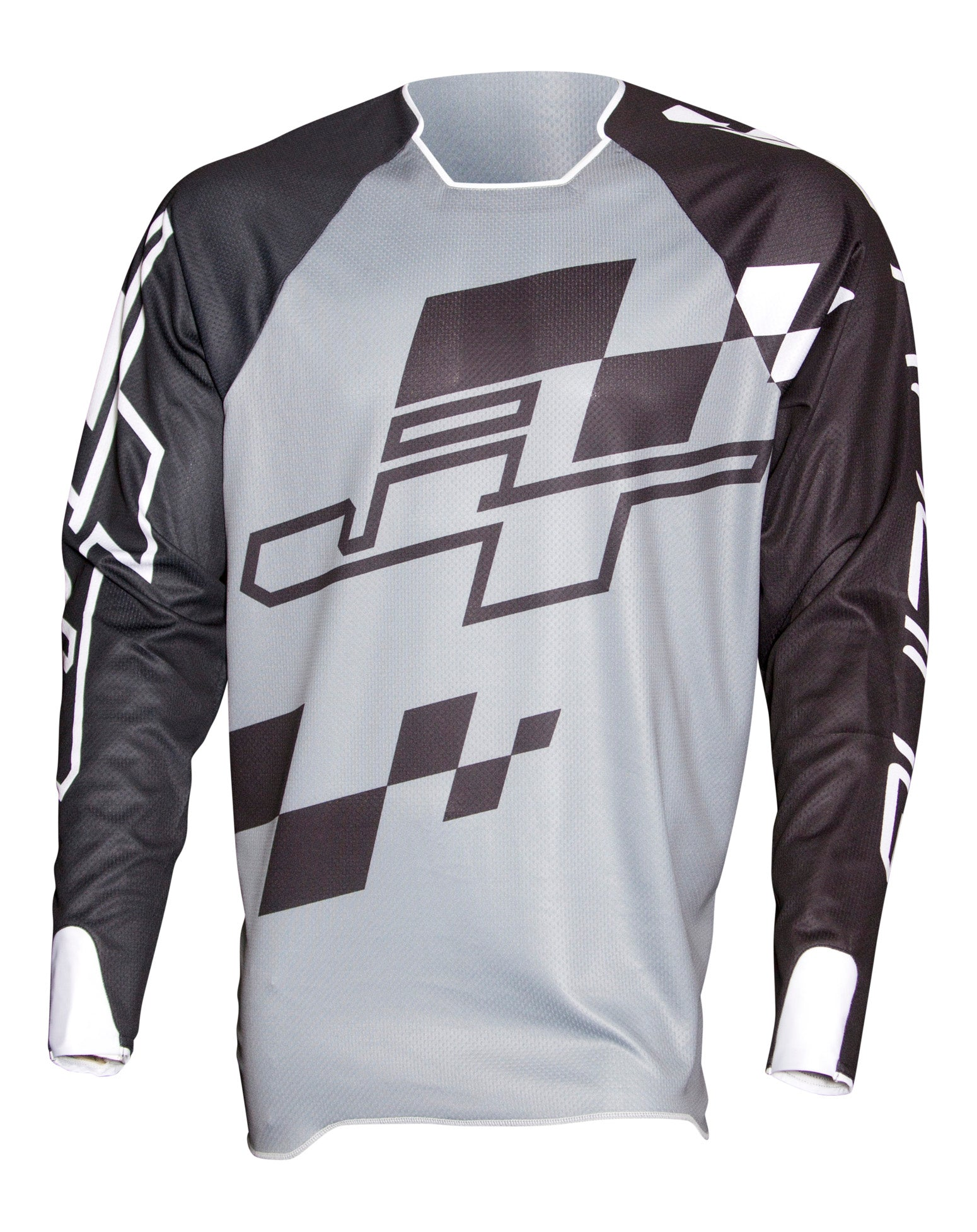 JT Racing USA-Hyperlite Checker Jersey, Black/Grey/White