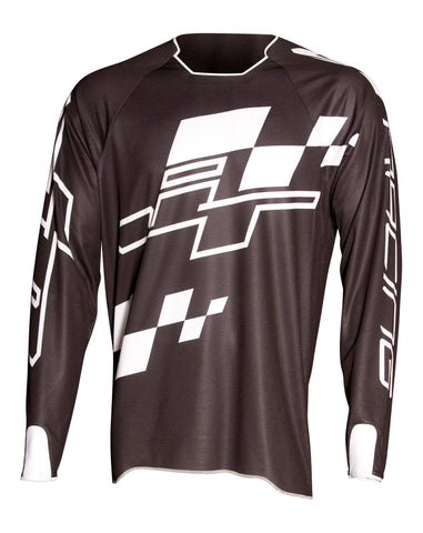 JT Racing USA-Hyperlite Checker Jersey, Black/White