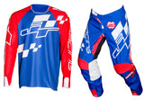 JT Racing USA-Hyperlite Checker Jersey, Red/White/Blue