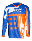 JT RACING USA-Flex-ExBox Jersey, Blue/Fluro Orange
