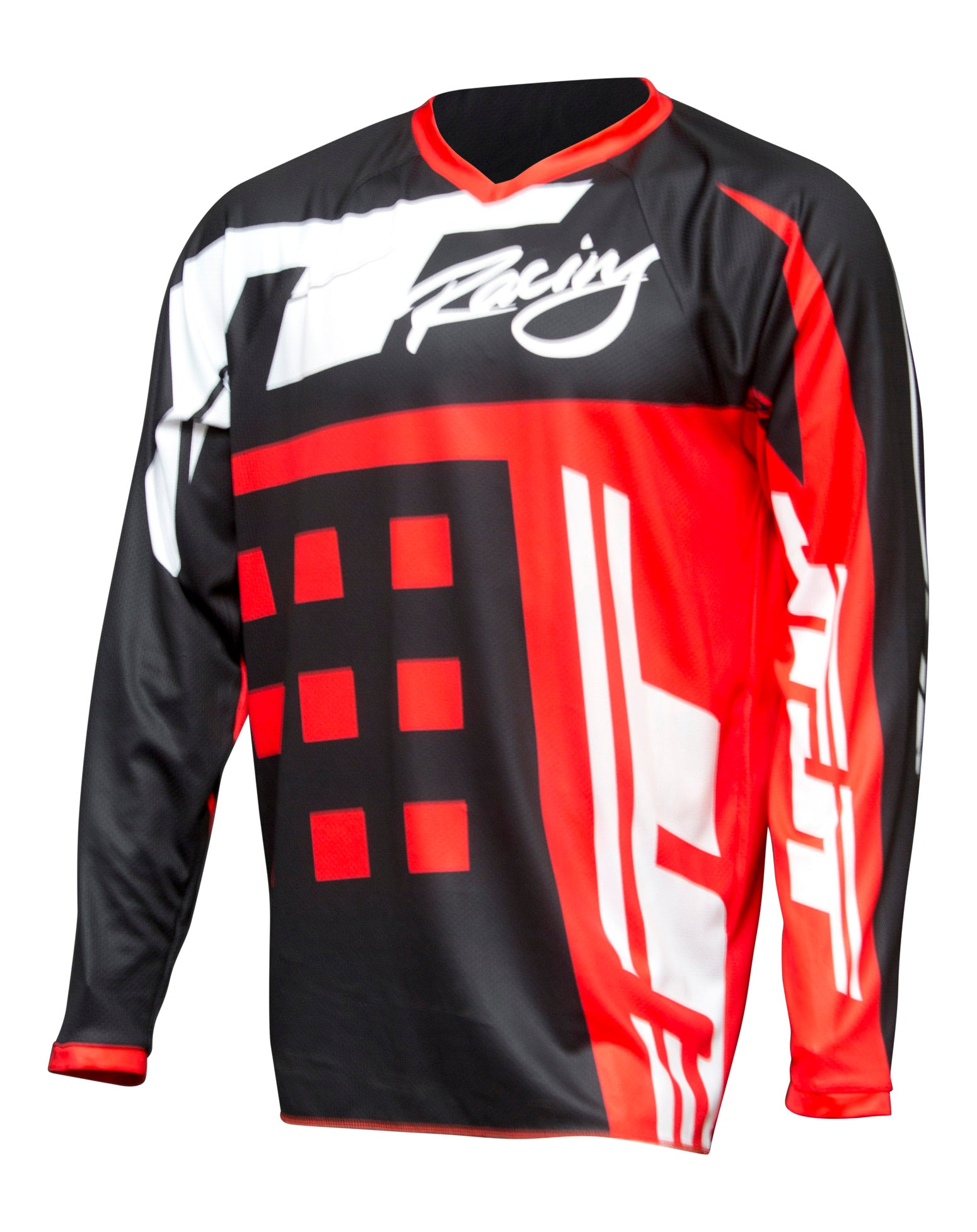JT RACING USA-Flex-ExBox Jersey, Red/Black