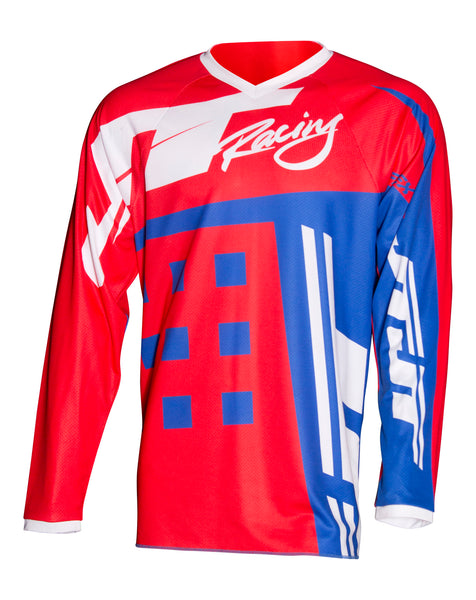 JT RACING USA-Flex-ExBox Jersey, Red/Blue/White