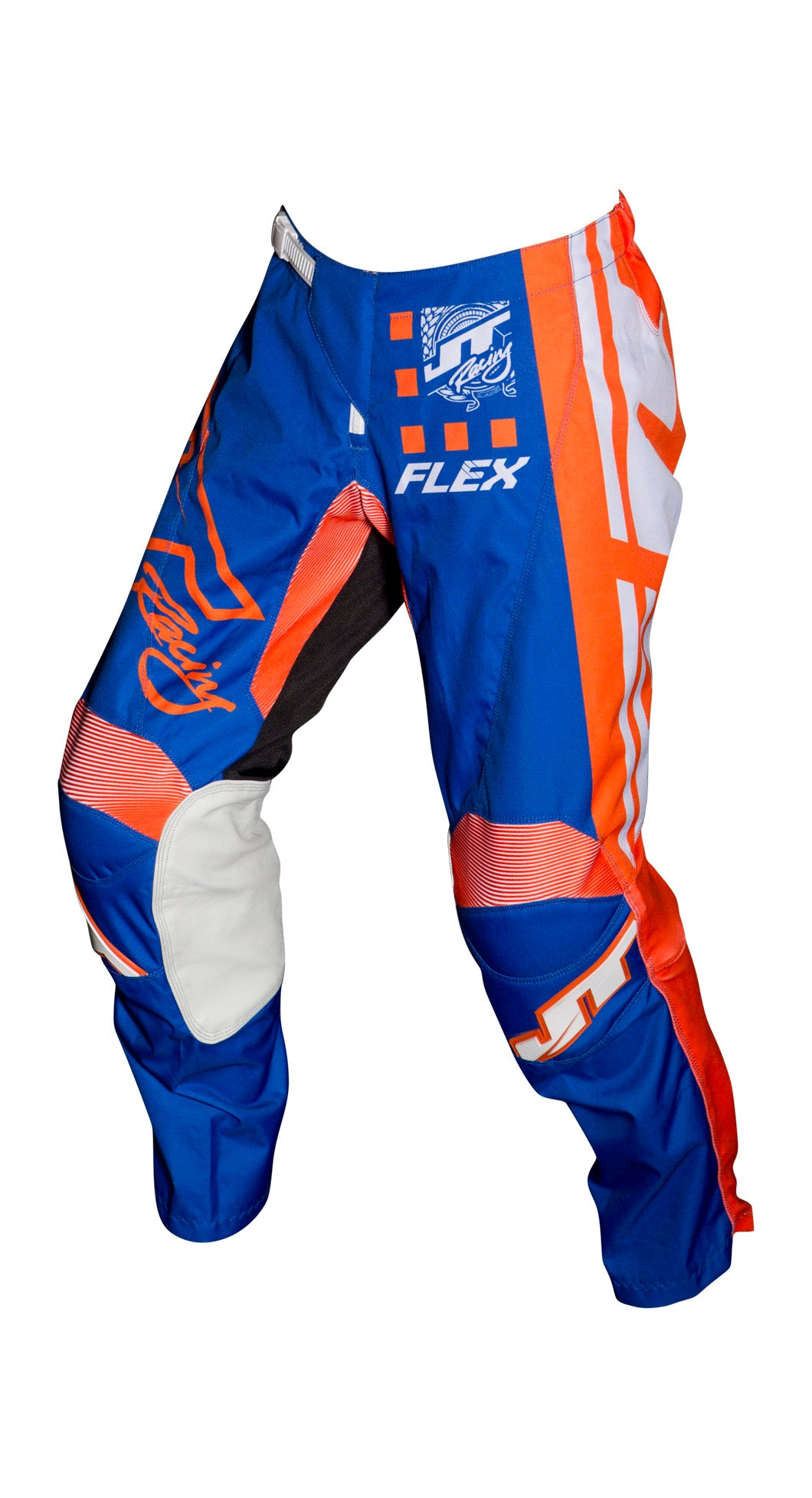 JT RACING USA Flex ExBox Pants, Blue/Fluro Orange