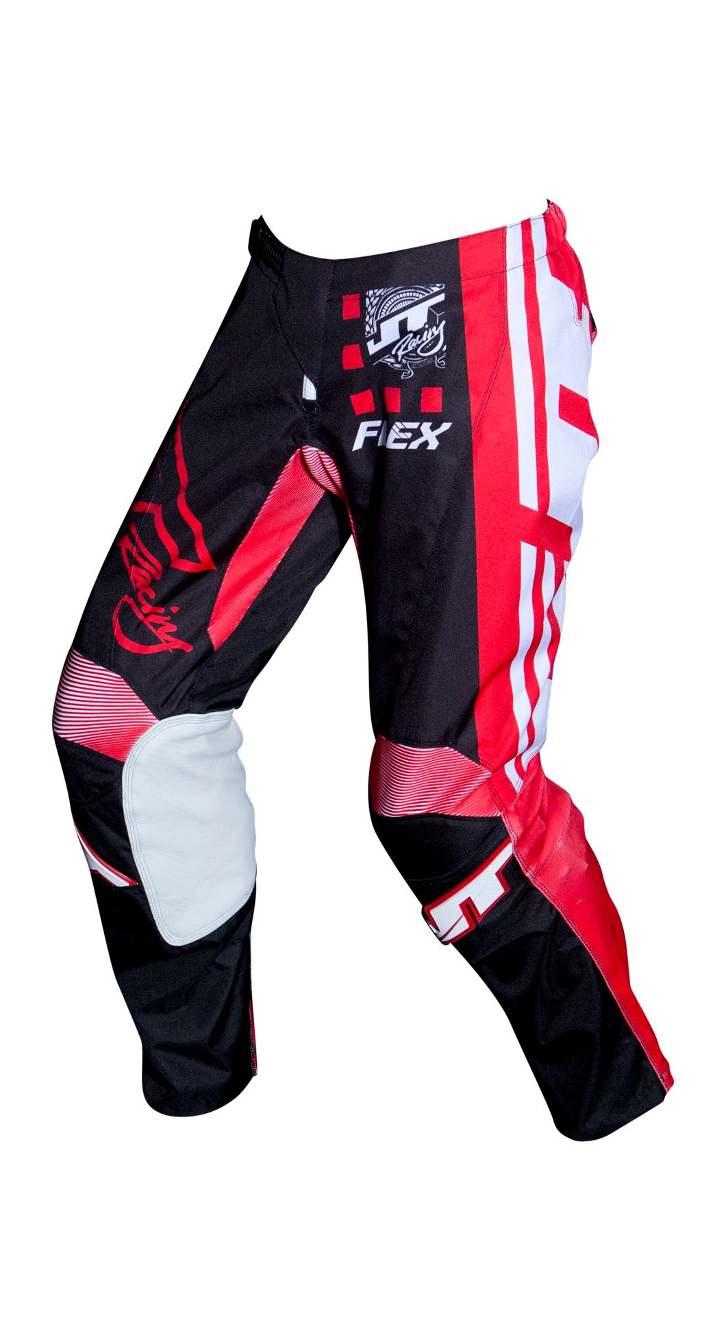 JT RACING USA Flex ExBox Pants, Black/Red