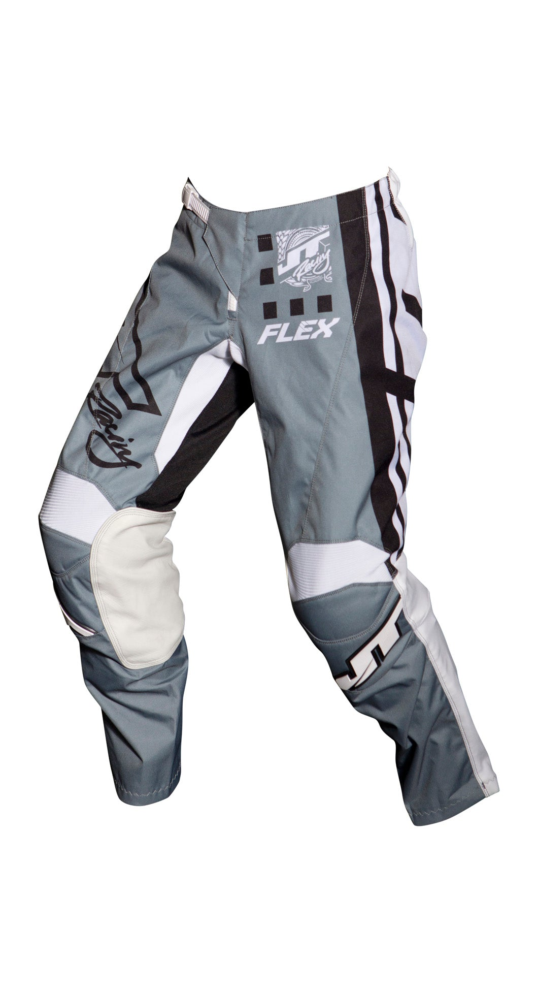 JT RACING USA Flex ExBox Pants, Grey/Black